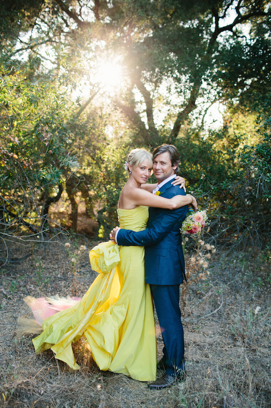 Lemon Rainbow Wedding Dress