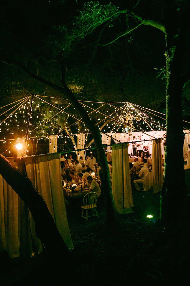 Dining under the stars in the Canyons