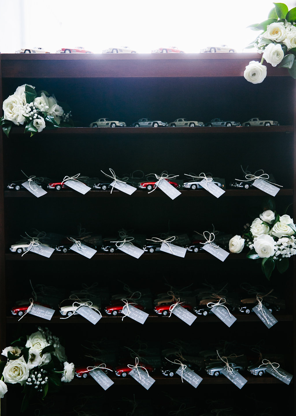 Toy Car Escort Card Display
